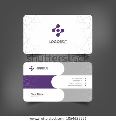 Simple elegant business card templates purple stock vector royalty simple elegant business card templates with purple particles styles identity card templates flashek Gallery