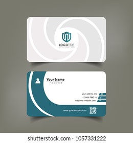 Simple Elegant Business Card Vector Templates with Whirlwind Styles, Clean Identity Card Templates
