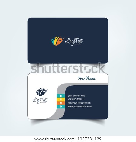 Simple elegant business card vector templates stock vector royalty simple elegant business card vector templates with purple cliff styles clean identity card templates wajeb Choice Image