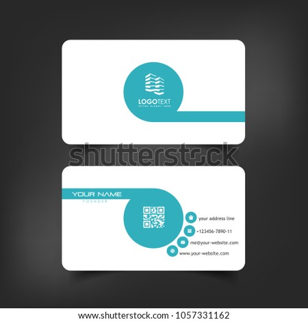 Simple elegant business card vector templates stock vector royalty simple elegant business card vector templates with blue feet styles clean identity card templates fbccfo Gallery