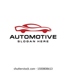 Simple elegant car logo design vector for business company