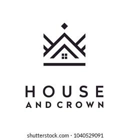 Simple elegant Crown House logo design
