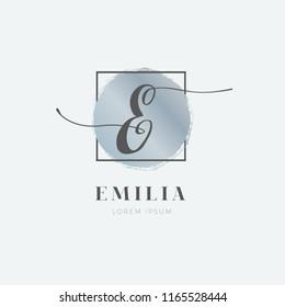 Simple Elegant Initial Letter E Logo Type Sign Symbol Icon