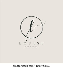 Simple Elegant Initial Letter Type L Logo Sign Symbol Icon