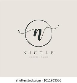 Simple Elegant Initial Letter Type N Logo Sign Symbol Icon