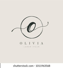 Simple Elegant Initial Letter Type O Logo Sign Symbol Icon