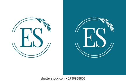 Simple Elegant Initial Letter Type ES Logo Sign Symbol Icon, Usable for Business and Branding Logos. Flat Vector Logo Design Ideas Template Element. Eps10 Vector