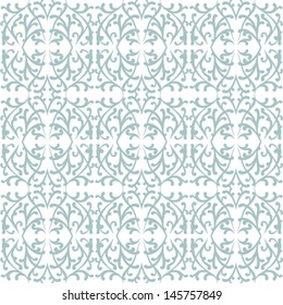 Simple elegant lace pattern with rich grey shapes on white background in art deco style. Texture for web, print, holiday home decor, winter fashion, textile, wedding invitation, seasons greeting card