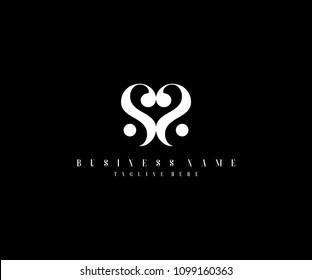 Simple Elegant Letter SS Logo Design