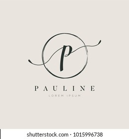 Simple Elegant Letter Type P Logo Sign Symbol Icon