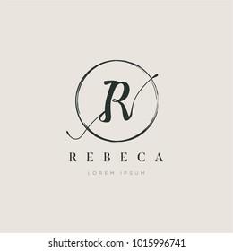 Simple Elegant Letter Type R Logo Sign Symbol Icon