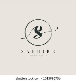 Simple Elegant Letter Type S Logo Sign Symbol Icon
