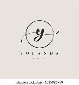 Simple Elegant Letter Type Y Logo Sign Symbol Icon