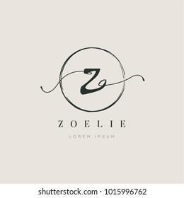 Simple Elegant Letter Type Z Logo Sign Symbol Icon