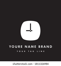 A simple and elegant logo template, suitable for logos for watch shops, watch companies or watch-related businesses