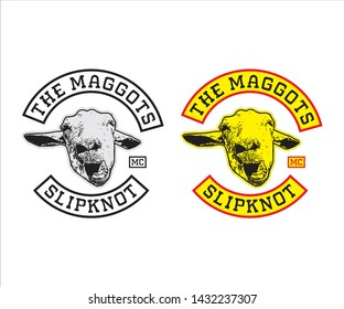 Simple &  Elegant, The maggots logo for fans of slipknot and motorcycle clubs