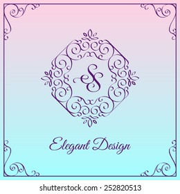 Simple and elegant monogram design template with double letter S. Vector illustration.