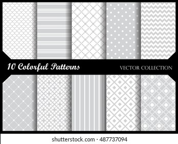 Simple and elegant  pattern collection. Web background pattern set