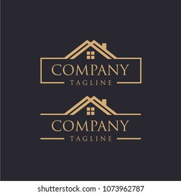 Simple And Elegant Real Estate Logo Design Template For Your Company