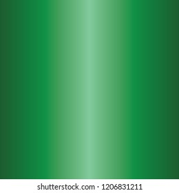 Simple Emerald green metal gradient texture in square.