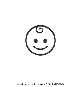 simple face icon family, emoji vector template