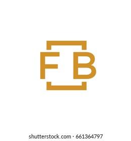 Simple FB initial Logo designs template vector illustration
