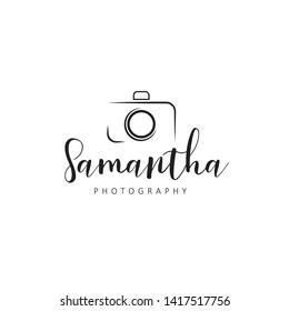 Simple feminine photography logo - Vector
