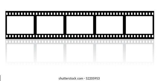 simple film stripe - vector