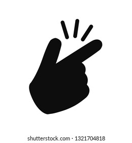 It's simple - finger snap icon in flat style. Easy icon. Finger snapping click flick hand gesture - for stock