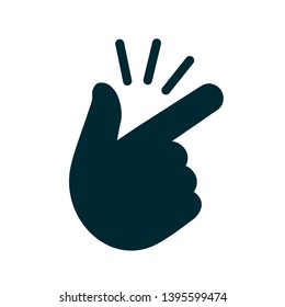 It's simple - finger snap icon in flat style. Easy icon. Finger snapping click flick hand gesture - for stock vector