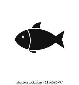 Simple fish icon, Vector illustration