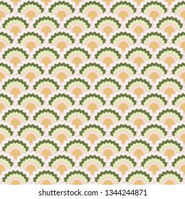 Simple fish scales squama background, vector seamless fabric pattern, tiled textile print. Vintage chinese squama scales seamless arc tiles mosaic. Mermaid skin pattern.