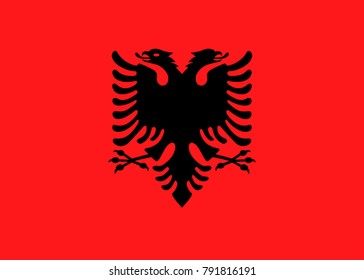 Simple flag of Albania. Correct size, proportion, colors