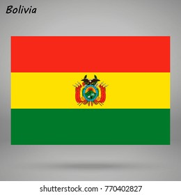 simple flag of Bolivia isolated on white background