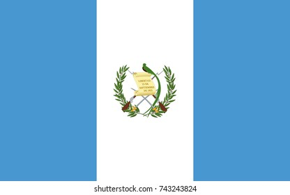 Simple flag of Guatemala. Correct size, proportion, colors