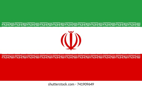Simple flag of Iran, Iranian Flag. Correct size, proportion, colors