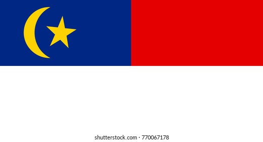 Simple flag of Malacca is a state of Malaysia