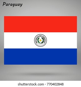 simple flag of Paraguay isolated on white background