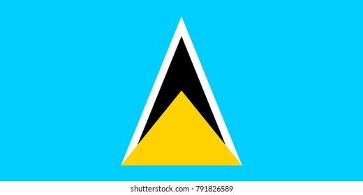 Simple flag of Saint Lucia. Correct size, proportion, colors