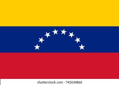 Simple flag of Venezuela. Venezuelan flag. Correct size, proportion, colors