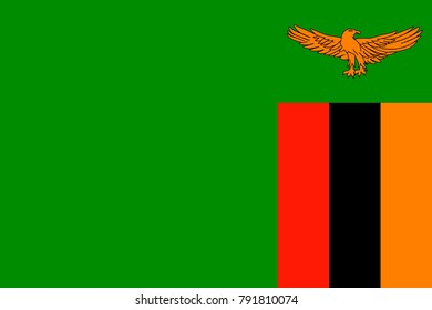 Simple flag of Zambia. Correct size, proportion, colors
