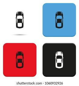 Simple flat car top view vector icon.