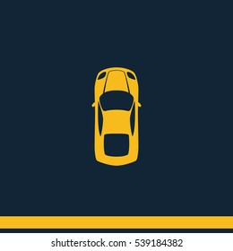 Simple flat car top view icon.