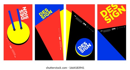 simple and flat colorful abstract vector geometric background poster design template