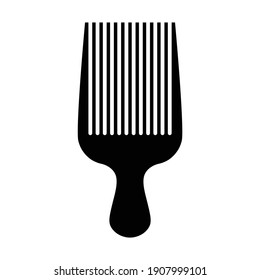 simple flat design afro hair comb icon vector illustration