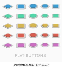Simple Flat design buttons