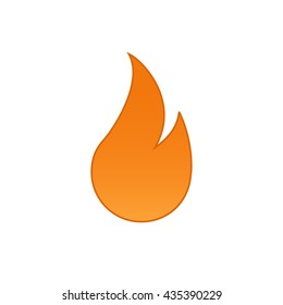 simple flat fire icon vector