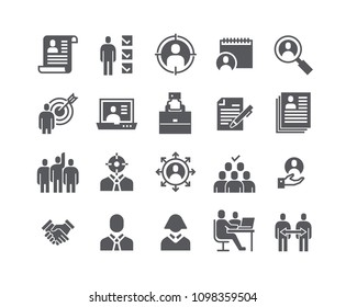 Simple flat high quality vector icon set,Headhunting Related Icons. Business people, Communication and Team work and more.48x48 Pixel Perfect.