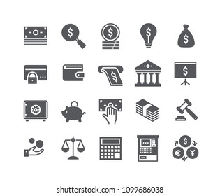 Simple flat high quality vector icon set,Finance related icon collection,Taxes, Money Management,Stock Exchange,Banking services and more.48x48 Pixel Perfect.