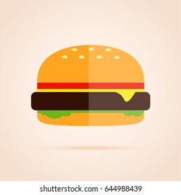Simple flat icon of burger.